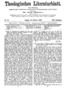 Theologisches Literaturblatt, 29. Oktober 1909, Nr 44.