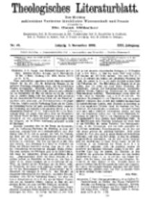 Theologisches Literaturblatt, 5. November 1909, Nr 45.