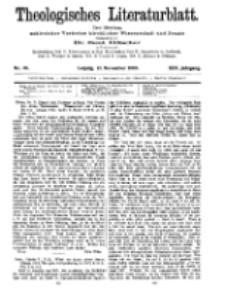 Theologisches Literaturblatt, 12. November 1909, Nr 46.