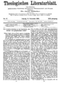 Theologisches Literaturblatt, 19. November 1909, Nr 47.