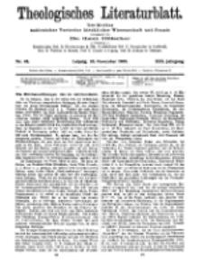 Theologisches Literaturblatt, 26. November 1909, Nr 48.