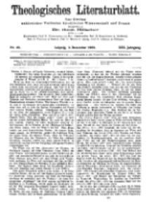 Theologisches Literaturblatt, 3. Dezember 1909, Nr 49.