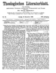 Theologisches Literaturblatt, 10. Dezember 1909, Nr 50.
