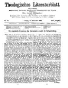 Theologisches Literaturblatt, 24. Dezember 1909, Nr 52.
