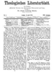 Theologisches Literaturblatt, 15. April 1910, Nr 8.
