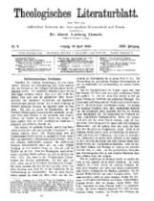 Theologisches Literaturblatt, 29. April 1910, Nr 9.