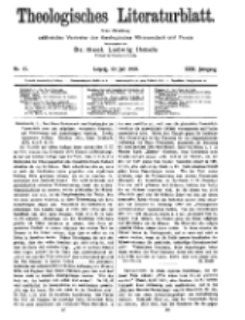 Theologisches Literaturblatt, 22. Juli 1910, Nr 15.