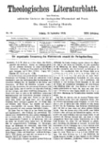 Theologisches Literaturblatt, 16. September 1910, Nr 19.