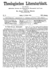 Theologisches Literaturblatt, 14. Oktober 1910, Nr 21.