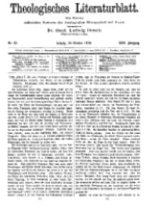 Theologisches Literaturblatt, 28. Oktober 1910, Nr 22.