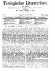 Theologisches Literaturblatt, 25. November 1910, Nr 24.