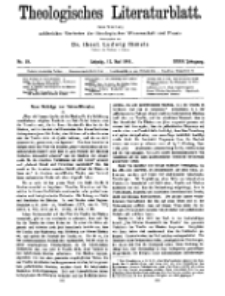 Theologisches Literaturblatt, 12. Mai 1911, Nr 10.