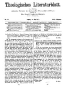 Theologisches Literaturblatt, 26. Mai 1911, Nr 11.