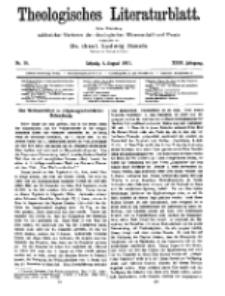 Theologisches Literaturblatt, 4. August 1911, Nr 16.