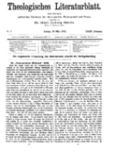 Theologisches Literaturblatt, 29. März 1912, Nr 7.