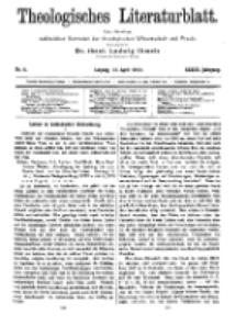 Theologisches Literaturblatt, 12. April 1912, Nr 8.