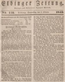 Elbinger Zeitung, No. 118 Donnerstag, 5. Oktober 1843