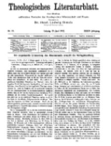 Theologisches Literaturblatt, 21. Juni 1912, Nr 13.