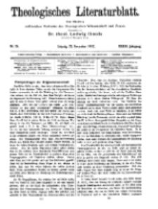 Theologisches Literaturblatt, 22. November 1912, Nr 24.