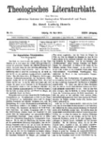 Theologisches Literaturblatt, 23. Mai 1913, Nr 11.