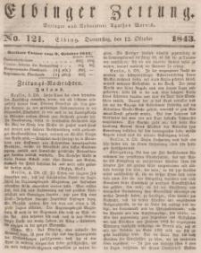 Elbinger Zeitung, No. 121 Donnerstag, 12. Oktober 1843