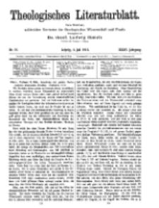 Theologisches Literaturblatt, 4. Juli 1913, Nr 14.