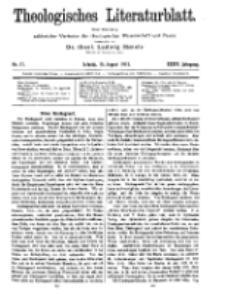 Theologisches Literaturblatt, 15. August 1913, Nr 17.
