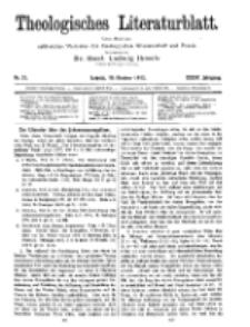 Theologisches Literaturblatt, 10. Oktober 1913, Nr 21.