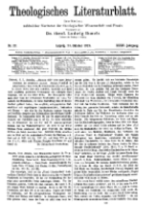 Theologisches Literaturblatt, 24. Oktober 1913, Nr 22.