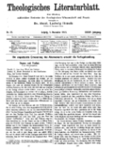 Theologisches Literaturblatt, 5. Dezember 1913, Nr 25.