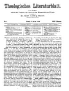 Theologisches Literaturblatt, 2. Januar 1914, Nr 1.