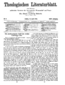 Theologisches Literaturblatt, 24. April 1914, Nr 9.