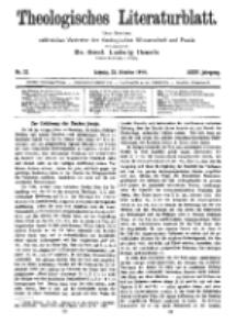 Theologisches Literaturblatt, 23. Oktober 1914, Nr 22.