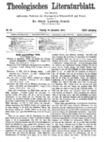 Theologisches Literaturblatt, 20. November 1914, Nr 24.