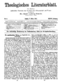 Theologisches Literaturblatt, 17. März 1916, Nr 6.