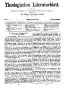 Theologisches Literaturblatt, 26. Mai 1916, Nr 11.