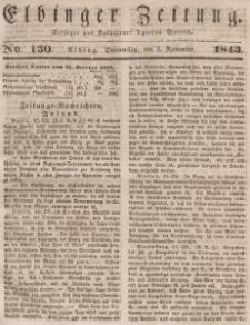 Elbinger Zeitung, No. 130 Donnerstag, 2. November 1843