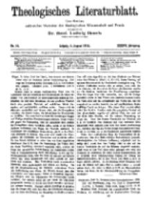 Theologisches Literaturblatt, 4. August 1916, Nr 16.