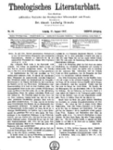 Theologisches Literaturblatt, 31. August 1917, Nr 18.