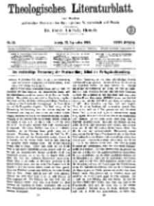 Theologisches Literaturblatt, 27. September 1918, Nr 20.