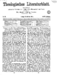 Theologisches Literaturblatt, 25. Oktober 1918, Nr 22.