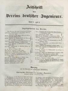 Zeitschrift des Vereins deutscher Ingenieure, Bd. V, 1861, H. 9.