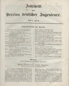 Zeitschrift des Vereins deutscher Ingenieure, Bd. V, 1861, H. 10.
