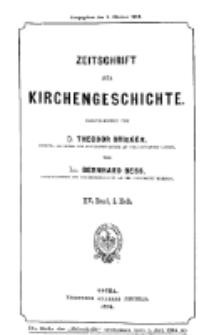 Zeitschrift für Kirchengeschichte, 1894, Bd. 15, H. 2.