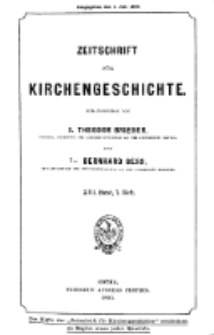 Zeitschrift für Kirchengeschichte, 1895, Bd. 16, H. 1.