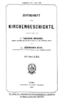 Zeitschrift für Kirchengeschichte, 1896, Bd. 16, H. 4.