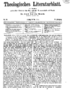 Theologisches Literaturblatt, 9. Mai 1919, Nr 10.