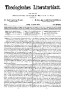 Theologisches Literaturblatt, 16. Januar 1925, Nr 2.