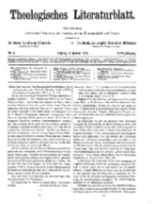 Theologisches Literaturblatt, 30. Januar 1925, Nr 3.