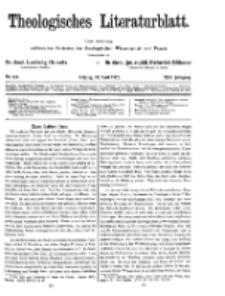 Theologisches Literaturblatt, 24. April 1925, Nr 8/9.